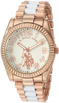 U.S. Polo Assn. Women's Quartz Metal and Alloy Casual Watch, Color:Two Tone (Model: USC40125)