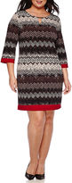 Ronni Nicole RN Studio by 3/4-Sleeve Printed Sheath Dress - Plus