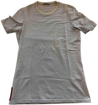 Prada Turquoise Cotton T-shirts