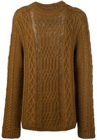 Maison Margiela distressed cable knit jumper