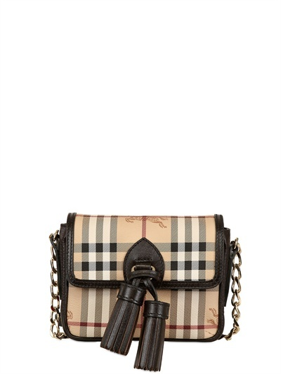 Burberry Berkeley Haymarket Pvc Shoulder Bag