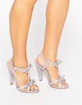 Paper Dolls Ellette Lilac Mesh Bow Sandals