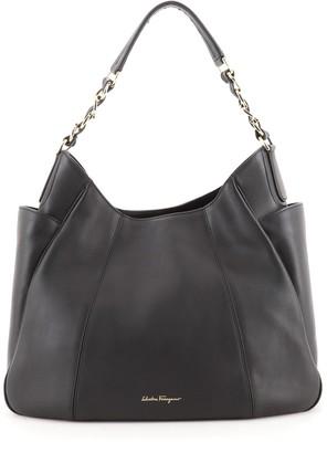 Salvatore Ferragamo Side Pocket Chain Hobo Leather Medium