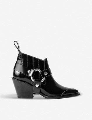 Zadig & Voltaire N'Dricks patent-leather heeled ankle boots
