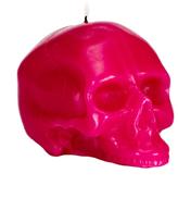 D.L. & Co. Medium Bright Pink Skull Candle