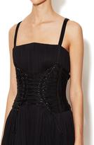 Dolce & Gabbana Silk Pleated Corset Dress