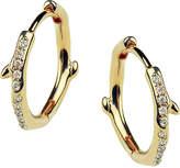 Shaun Leane Cherry Branch yellow-gold vermeil and diamond hoop earrings