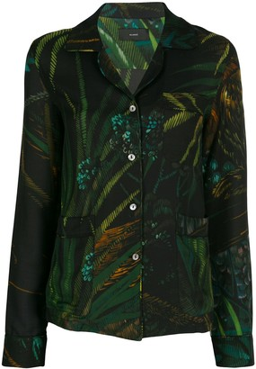 Alanui Monkey Jungle print pyjama shirt
