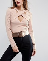 Asos Rose Gold Wide Buckle Waist Belt