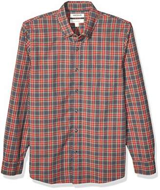 Goodthreads Amazon Brand Men's Slim-Fit Long-Sleeve Plaid Oxford Shirt
