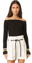 3.1 Phillip Lim Off Shoulder Crop Top