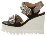 Chrissie Morris Lizard Platform Wedges