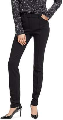 Barbara Bui Roxy Pin-Tucked Slim-Leg Pants