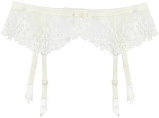 Simone Perele Wish Ivory Lace Suspender Belt