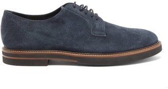 Tod's Suede Derby Shoes - Mens - Navy