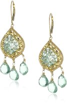Dana Kellin Apatite Mosaic and Triple Flourite Drop Earrings