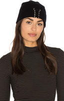 Autumn Cashmere Lace Up Beanie in Black.