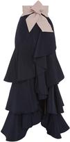 Johanna Ortiz Silk Ruffled Midnight Skirt