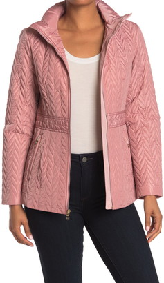 Kate Spade Quilted Stand-Up Collar Jacket