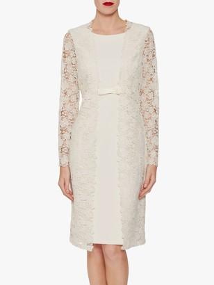 Gina Bacconi Summer Crepe Lace Dress