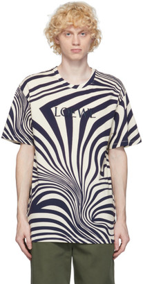 Loewe Off-White and Navy Psychedelic T-Shirt