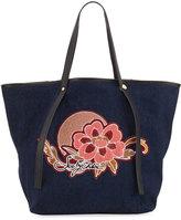 See by Chloe Andy Floral Denim Tote Bag