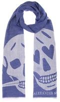 Alexander McQueen Wool and silk scarf