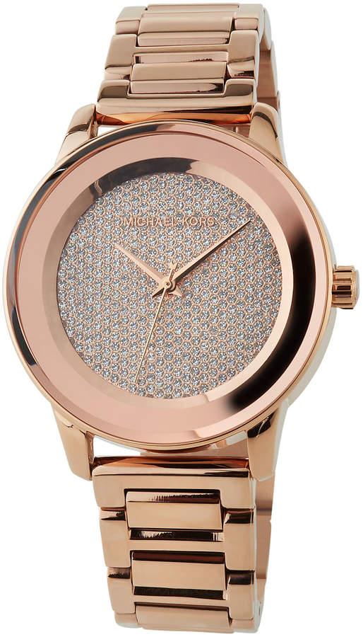 b4f6e0a3d31e Michael Kors Pave Watch - ShopStyle