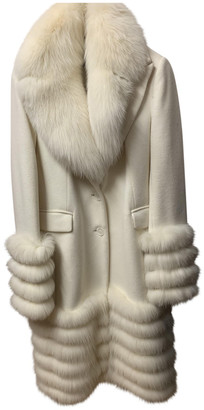 Flavio Castellani Beige Wool Coats