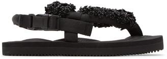Cecilie Bahnsen Black Suicoke Edition Floral Sandal