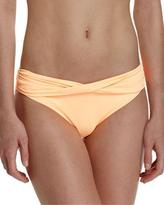 Seafolly Twist-Band Hipster Swim Bottom, Neon Mango