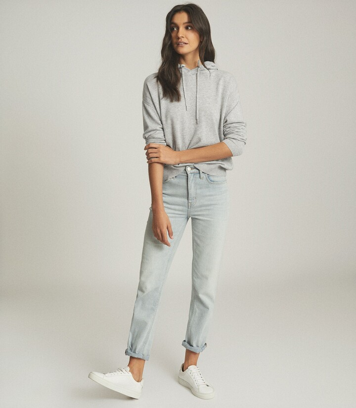 Thumbnail for your product : Reiss Seren - Cashmere Hoodie in Grey