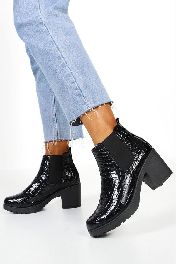 fe923bbea58 Patent Chelsea Boots Women - ShopStyle UK