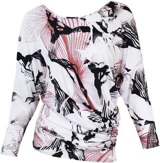 Me&Thee Day Lark Print Bamboo V Back Top