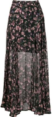 IRO Diamond printed maxi skirt