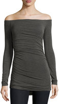 Bailey 44 Off-the-Shoulder Jersey Top, Charcoal