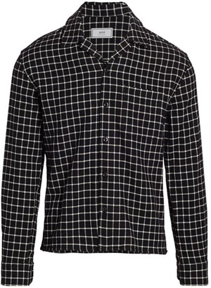 Ami Paris Grid Check Sport Shirt