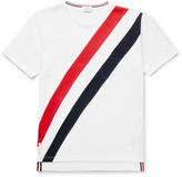 Thom Browne - Slim-fit Striped Cotton-jersey T-shirt
