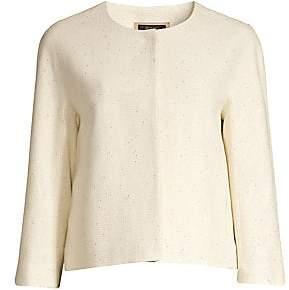 Peserico Women's Lurex Knit Collarless Jacket