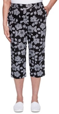 Alfred Dunner Checkmate Floral-Gingham-Pattern Pants