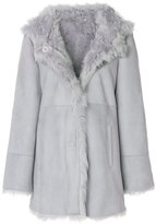 Drome panelled hooded coat