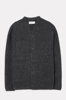 Universal Works Cardigan In Charcoal - L