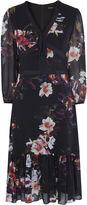 Karen Millen Georgette Orchid Dress - Multicolour