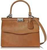 Rodo Light Brown Hair-calf and Leather Top Handle Paris Bag