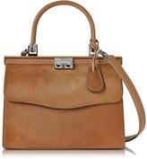 Rodo Light Brown Haircalf and Leather Top Handle Paris Bag