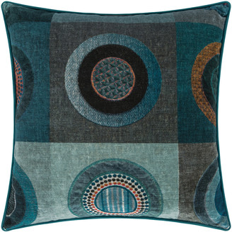 Mulberry Home - Dress Circle Velvet Cushion - 45x45cm