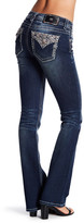 Miss Me Whiskered & Embroidered Mid Rise Bootcut Jeans