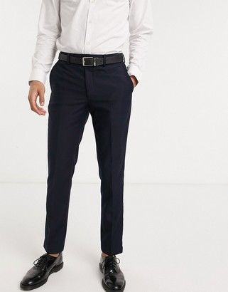 French Connection slim fit tuxedo suit pants