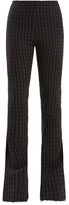 Awake Diver flared gingham trousers