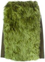 Maison Margiela faux fur panel skirt